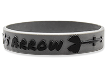 Custom Embossed Printed Silicone Wristbands