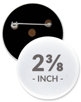 2 3/8 Inch Round Custom Buttons