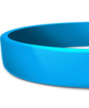 Custom 3/4 Inch Silicone Wristbands